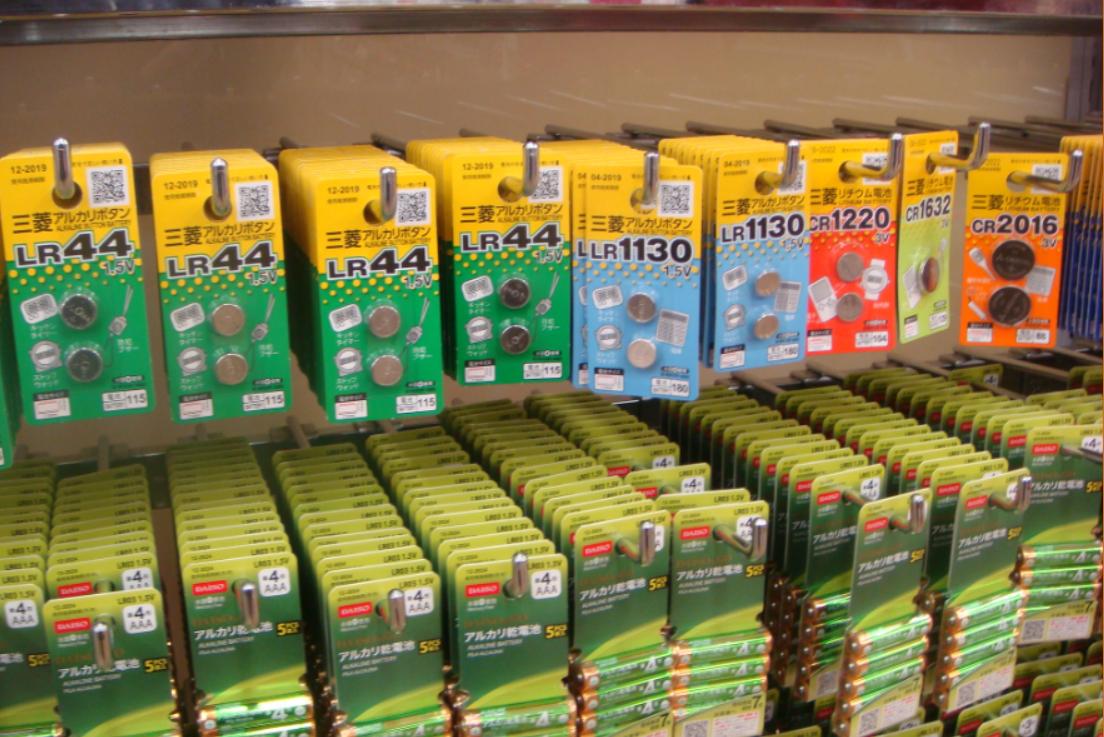 100均にあるボタン電池の種類を調べてみました/ダイソー/セリア/キャンドゥ/ローソン100