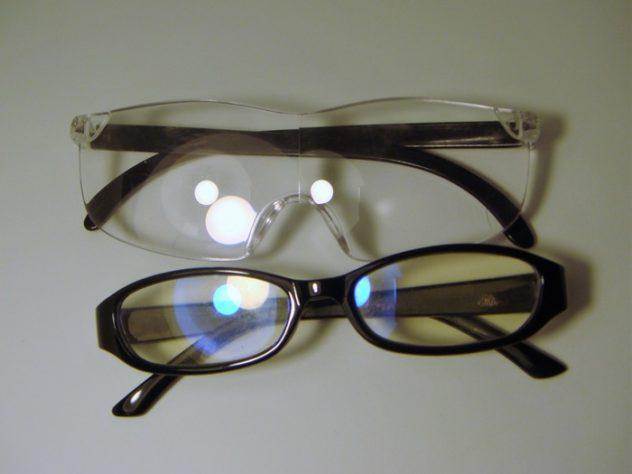 メガネ型ルーペ、ブルーライトカット