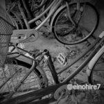 サドルを盗まれた自転車